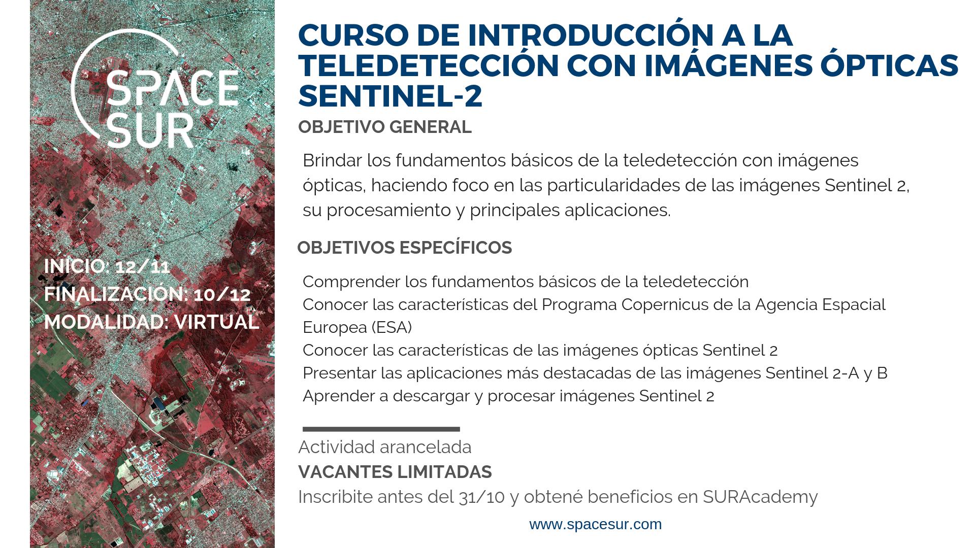 Introducción a la teledetección con imágenes ópticas Sentinel-2