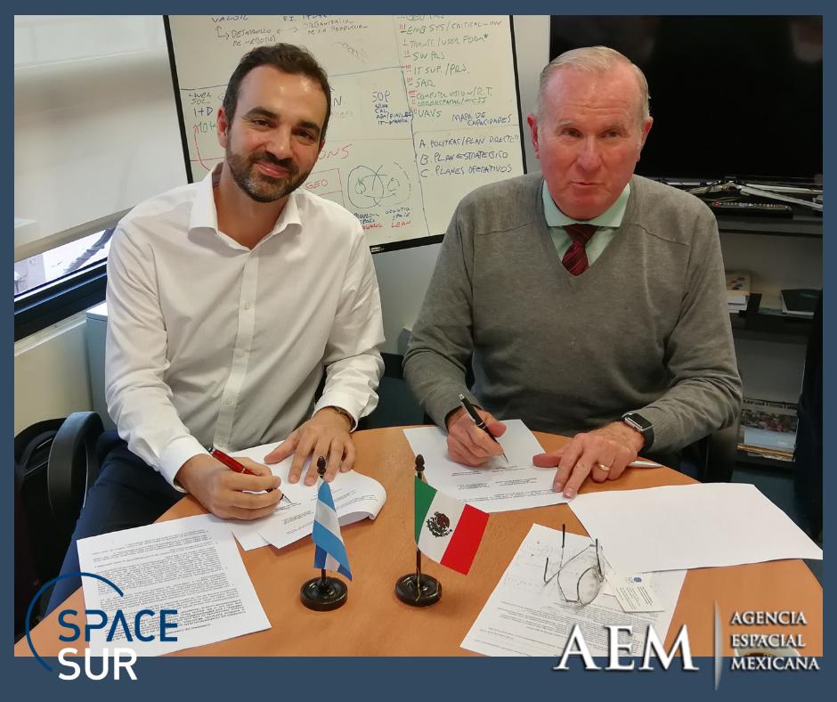 AEM y SpaceSUR firman Memorando de Entendimiento