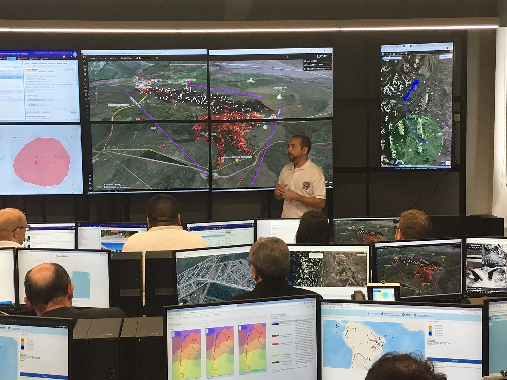SpaceSUR in the inauguration of the National Emergency Alert and Monitoring Center of Argentina
